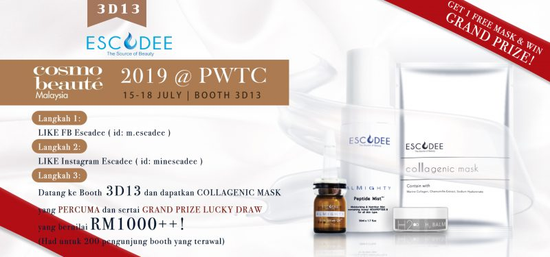 Read more about the article Jom! Win our GRAND PRIZE now! | Cosmobeaute 2019 @ PWTC